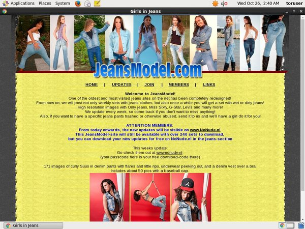 Jeansmodel Account Information