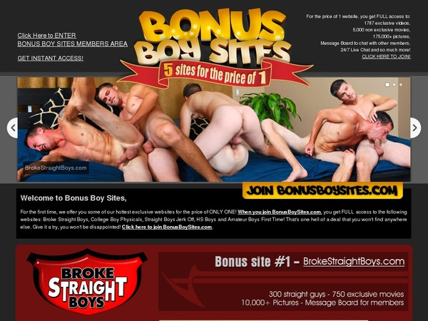 Bonus Boy Sites On Sale
